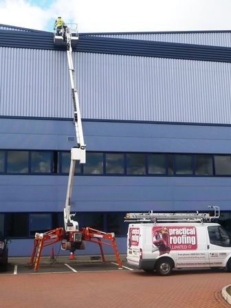 High Level Access Equipment by Roofing Birmingham